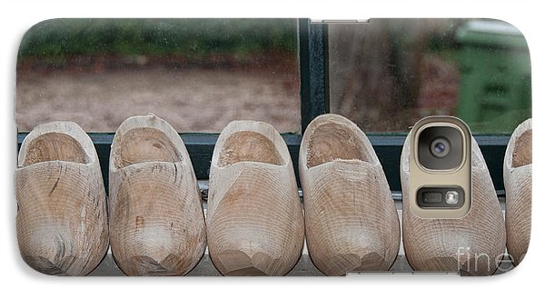 Galaxy Case featuring the digital art Rows Of Wooden Shoes by Carol Ailles