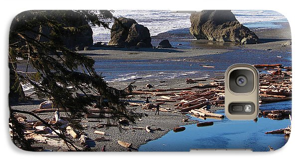 Galaxy Case featuring the photograph Ruby Beach IIi by Jeanette C Landstrom