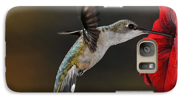 Galaxy Case featuring the photograph Ruby Throated Hummingbird by Mike Martin