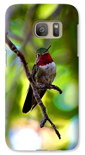 Galaxy Case featuring the photograph Ruby Throated Hummingbird by Susanne Still