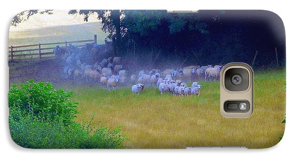Galaxy Case featuring the photograph Running Of The Sheep by Rdr Creative