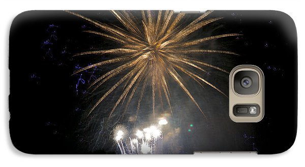 Galaxy Case featuring the photograph Rvr Fireworks 1 by Mark Dodd