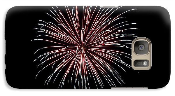 Galaxy Case featuring the photograph Rvr Fireworks 12 by Mark Dodd