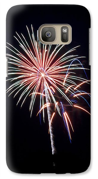 Galaxy Case featuring the photograph Rvr Fireworks 16 by Mark Dodd