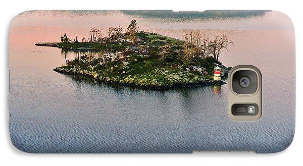 Galaxy Case featuring the photograph Ryssmasterna Lighthouse Sweden by Marianne Campolongo