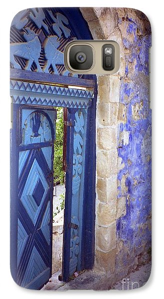 Galaxy Case featuring the photograph Safed Door by Arlene Carmel