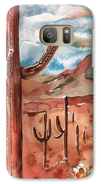 Galaxy Case featuring the painting Saguaro Cactus by Sharon Mick