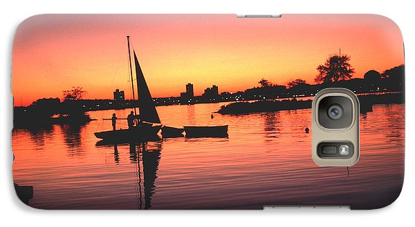 Galaxy Case featuring the photograph Sailing End Of The Day Backbay  Boston by Tom Wurl