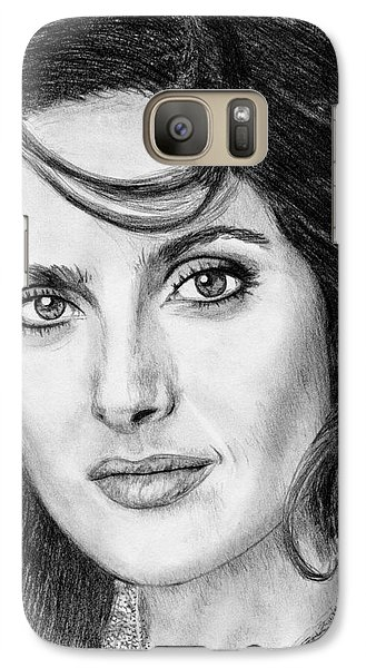 Galaxy Case featuring the drawing Salma Hayek In 2005 by J McCombie