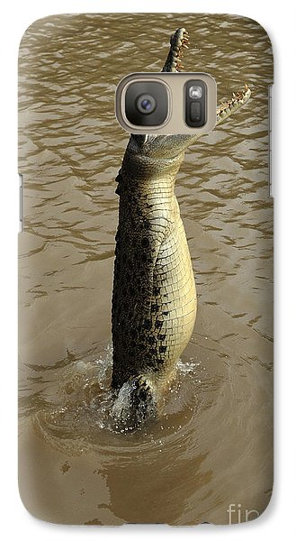 Salt Water Crocodile Galaxy Case by Bob Christopher