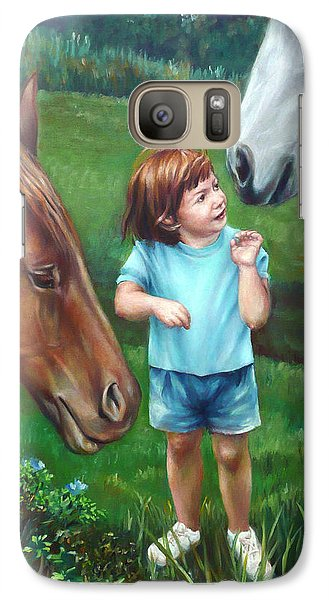 Galaxy Case featuring the painting Samantha Becomes An Equestrian by Nancy Tilles
