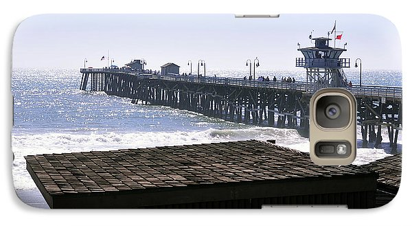 Galaxy Case featuring the photograph San Clemente Pier California by Clayton Bruster