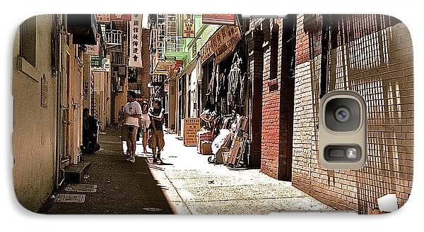 Galaxy Case featuring the photograph San Fran Chinatown Alley by Bill Owen