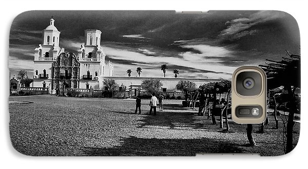 Galaxy Case featuring the photograph San Xavier Del Bac Mission by Tom Singleton