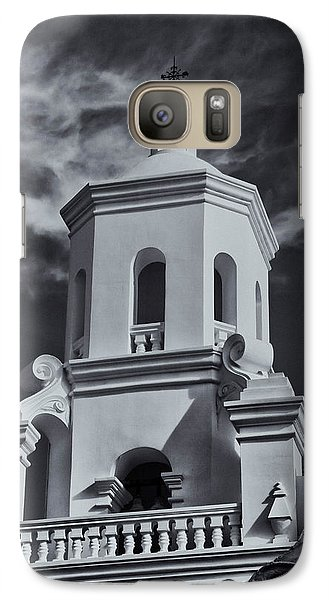Galaxy Case featuring the photograph San Xavier Tower by Tom Singleton