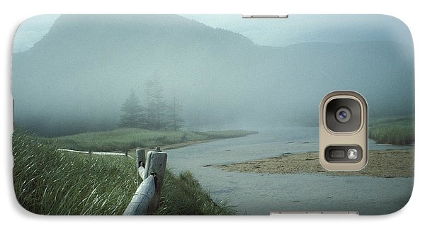 Galaxy Case featuring the photograph Sand Beach Fog by Brent L Ander