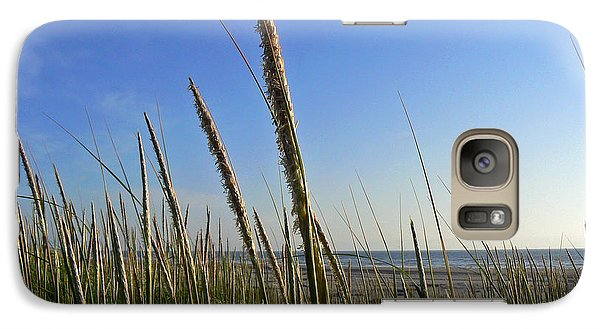 Galaxy Case featuring the photograph Sand Dune Grasses by Pamela Patch