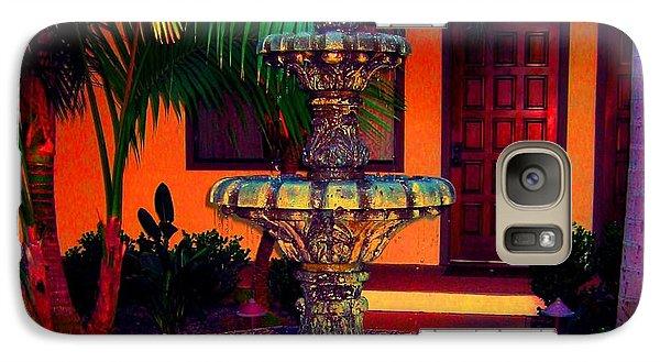 Galaxy Case featuring the photograph Santa Barbara Fountain by Ann Johndro-Collins