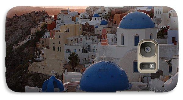 Galaxy Case featuring the photograph Santorini by Milena Boeva