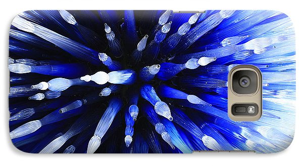Galaxy Case featuring the photograph Sapphire Explosion by Jerry Bunger
