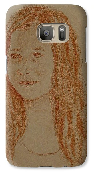 Galaxy Case featuring the painting Sarah by Carol Berning