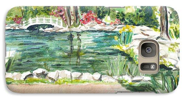 Galaxy Case featuring the painting Sayen Pond by Clara Sue Beym