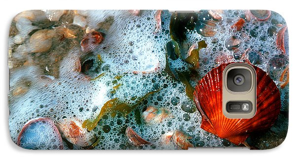 Galaxy Case featuring the photograph Scallop And Seaweed 11c by Gerry Gantt