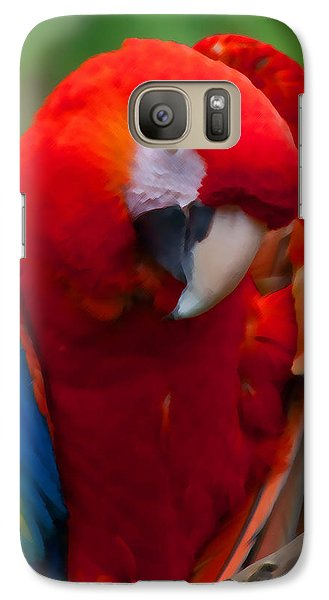 Galaxy Case featuring the photograph Scarlet Macaw by Cindy Haggerty