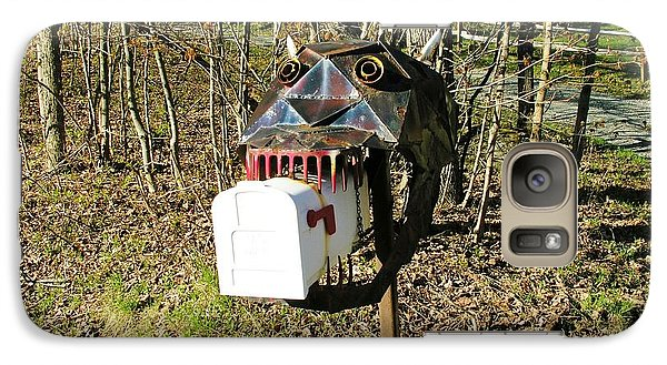 Galaxy Case featuring the photograph Scary Mailbox 3 by Sherman Perry