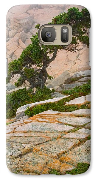 Galaxy Case featuring the photograph Schoodic Cliffs by Brent L Ander