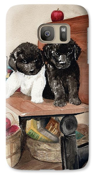 Galaxy Case featuring the painting School Days by Nancy Patterson