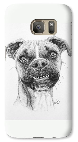 Galaxy Case featuring the drawing Scout by Mike Ivey