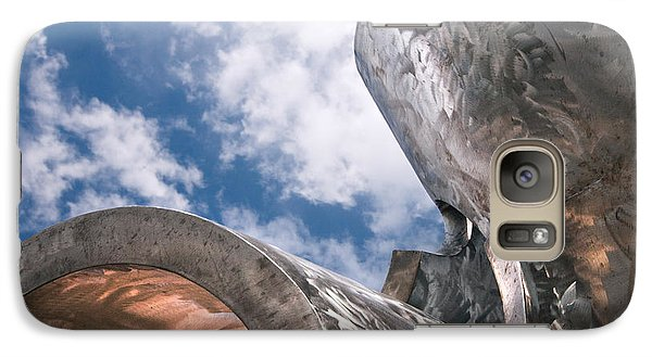 Galaxy Case featuring the photograph Sculpture And Sky by Tom Gort