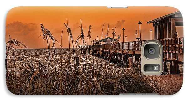 Galaxy Case featuring the photograph Sea Oats At Dawn by Anne Rodkin