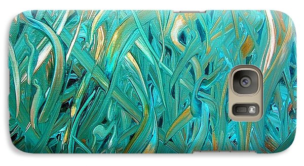 Galaxy Case featuring the painting Sea Of Grass by Mary Kay Holladay