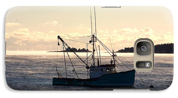 Galaxy Case featuring the photograph Sea-smoke On The Harbor by Brent L Ander