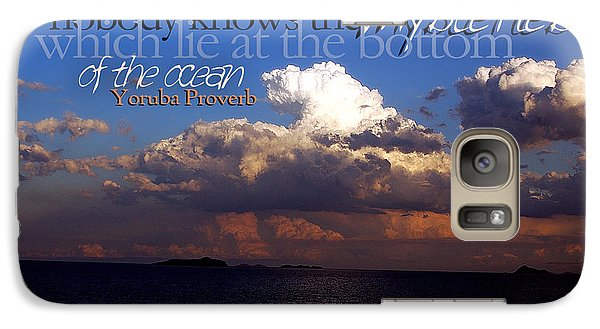 Galaxy Case featuring the photograph Sea The Mystery by Vicki Ferrari