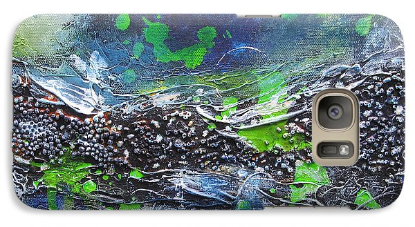 Galaxy Case featuring the painting Sea World by Nicole Nadeau