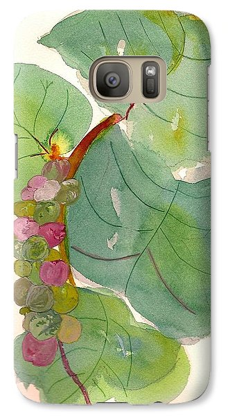 Galaxy Case featuring the painting Seagrapes by Joy Braverman