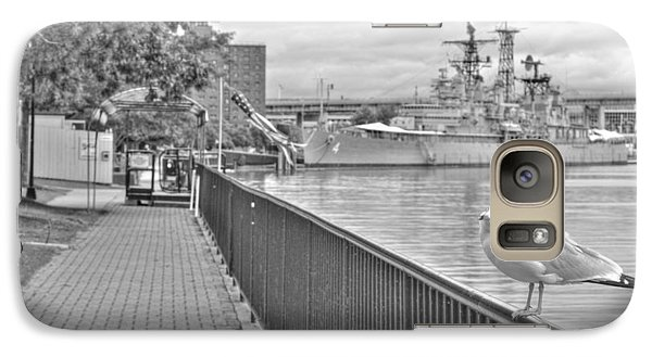 Galaxy Case featuring the photograph Seagull At The Naval And Military Park by Michael Frank Jr