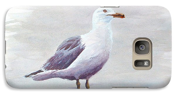 Galaxy Case featuring the painting Seagull by Chriss Pagani