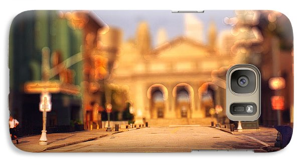 Galaxy Case featuring the photograph Seaport Tiltshift by EricaMaxine  Price