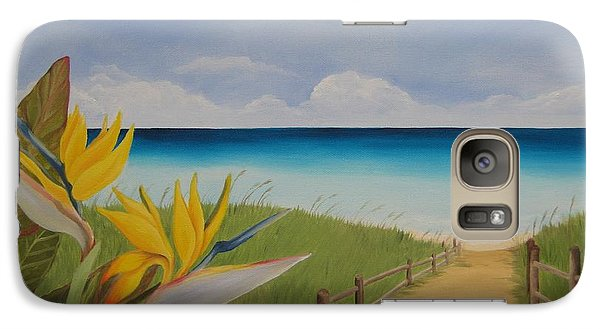 Galaxy Case featuring the painting Seascape by Jindra Noewi