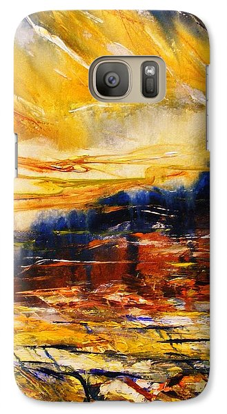Galaxy Case featuring the painting Sedona Sky by Karen  Ferrand Carroll