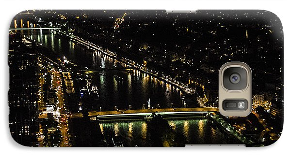Galaxy Case featuring the photograph Seine River Atop The Eiffel Tower by Marta Cavazos-Hernandez