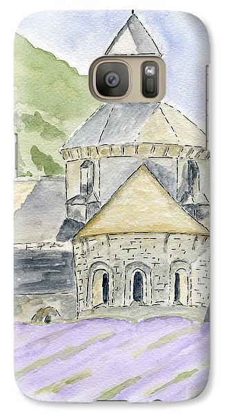 Galaxy Case featuring the painting Senanque Abbey Provence by Eva Ason