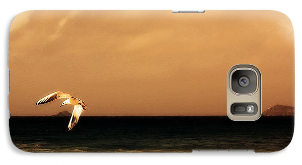 Galaxy Case featuring the photograph Sennen Seagull by Linsey Williams