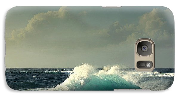 Galaxy Case featuring the photograph Sennen Surf Seascape by Linsey Williams