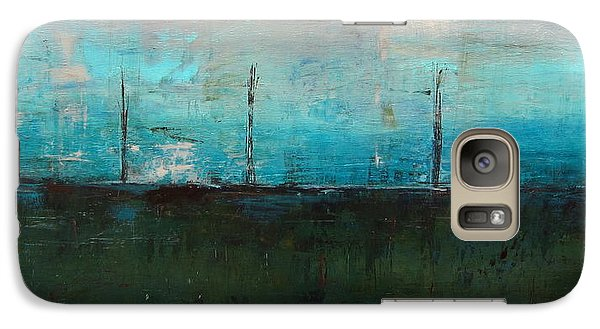 Galaxy Case featuring the painting Serene by Kathy Sheeran