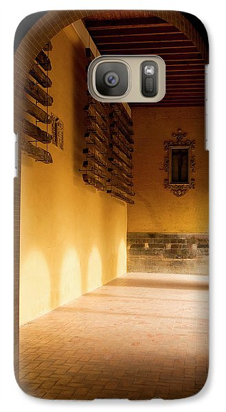 Galaxy Case featuring the photograph Shaded Portal by Lorraine Devon Wilke